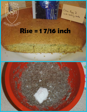 Which Egg Replacer Works Best for Cake? - This is Chia with baking soda | Allergy Superheroes Blog