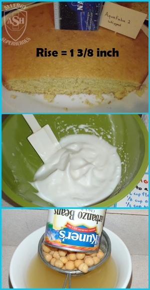 Which Egg Replacer Works Best for Cake? - This is Whipped Aquafaba (chickpea brine) | Allergy Superheroes Blog