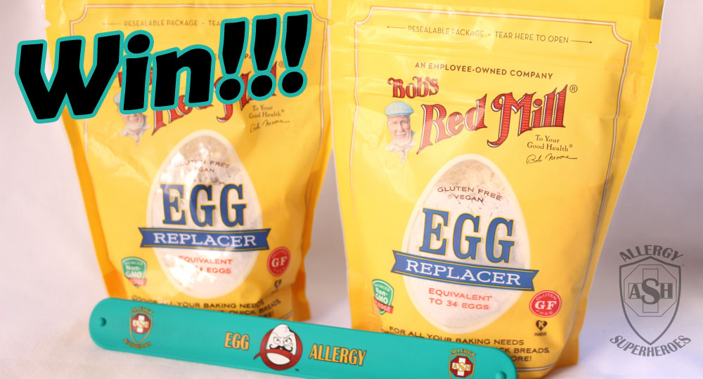 Win Bob's Red Mill Egg Replacer and an Allergy Superheroes Egg Allergy Slap Bracelet! | Enter on the Allergy Superheroes Blog