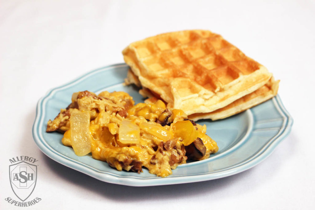 Food Allergy Superheroes VeganEgg eggs and waffles egg free