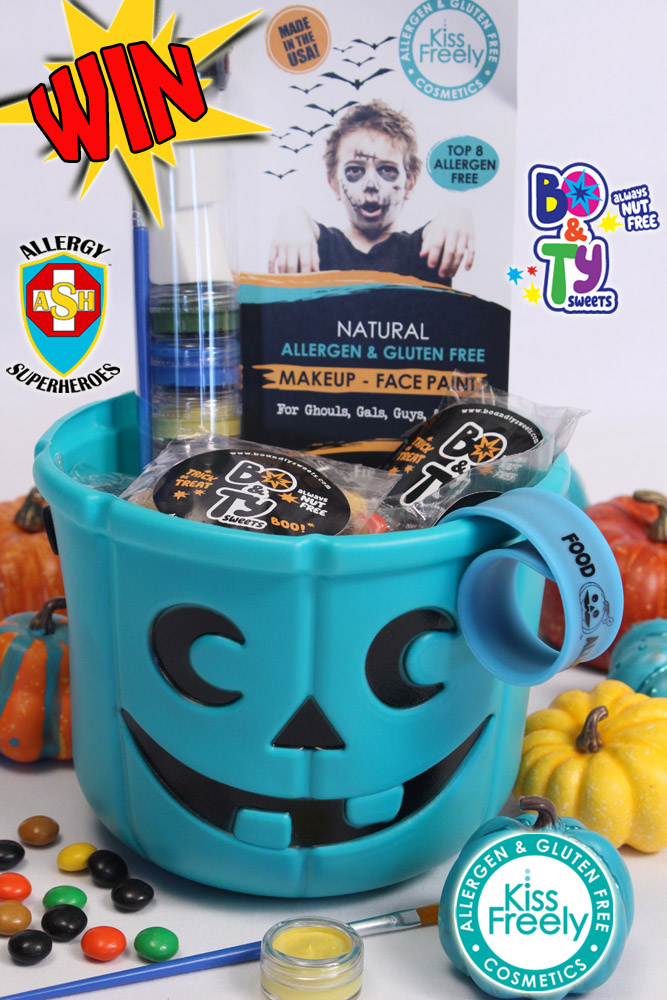 Allergy Superheroes Teal Pumpkin Bo&Ty Sweets Kiss Freely Halloween Giveaway Food Allergy