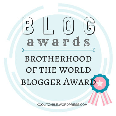 Brotherhood of the World Blogger Award Food Allergy Superheroes