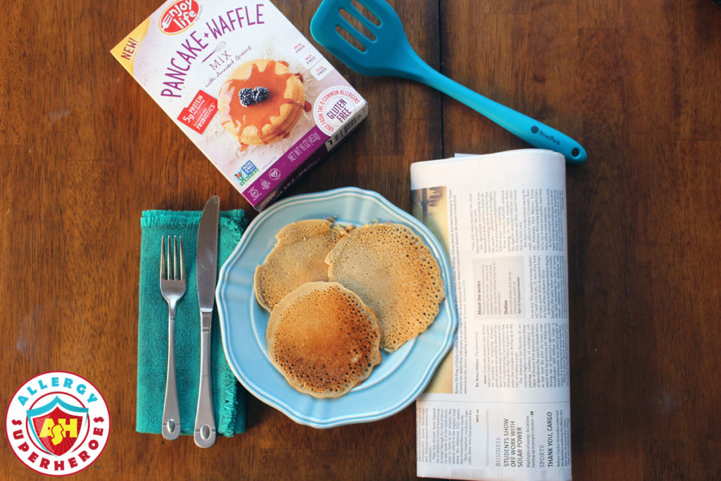 Enjoy Life Foods top 8 free Pancake Mix by Food Allergy Superheroes