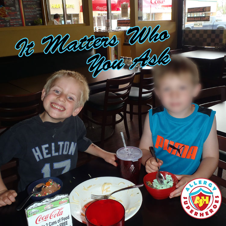 It Matters Who You Ask about Food Allergies   by Allergy Superheroes