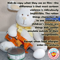 Why using Allergens as a weapon in Peter Rabbit isn't the same as other cartoon violence | Allergy Superheroes