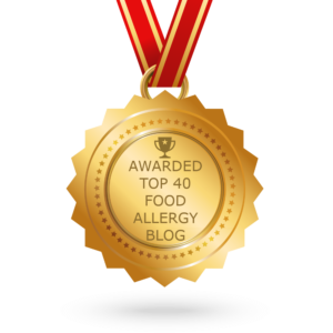Top 40 Food Allergy Blog Award Winner for Allergy Superheroes