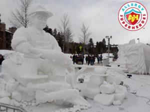 Breckenridge Snow Sculpture fishing by food Allergy Superheroes