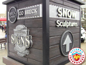 Welcome to the Breckenridge Snow Sculptures by food Allergy Superheroes