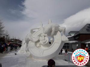 Breckenridge Snow Sculpture time by food Allergy Superheroes