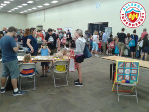 Gluten Free Food Fair by food Allergy Superheroes craft table
