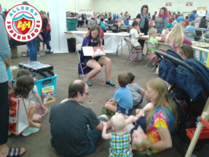 Gluten Free Food Fair by food Allergy Superheroes story time