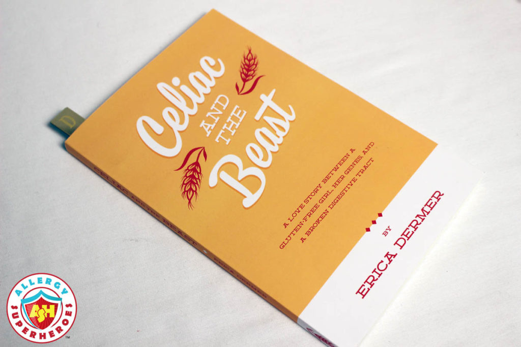 The Allergy Superheroes review of the book Celiac and the Beast by Erica Dermer.