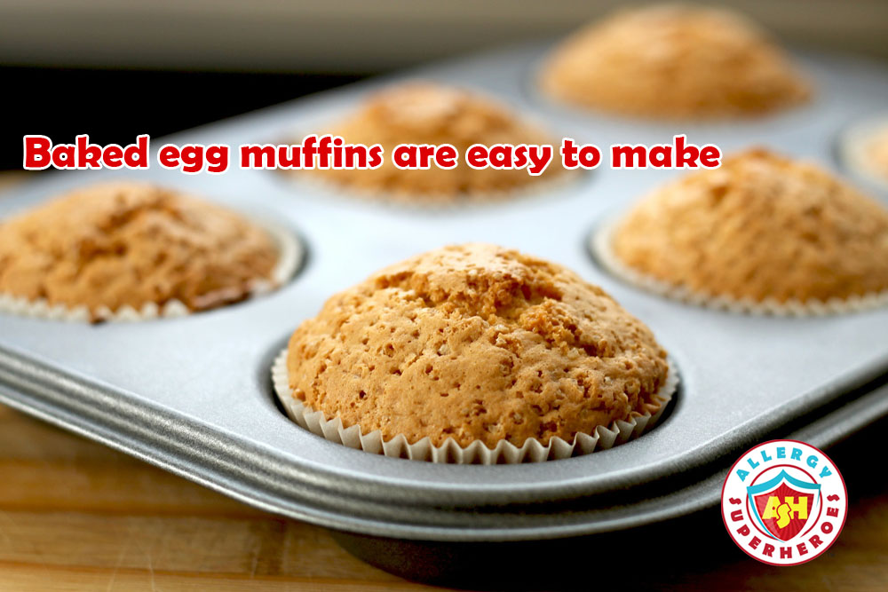 Tray of muffins | Baked Egg versus Egg OIT | by Allergy Superheroes