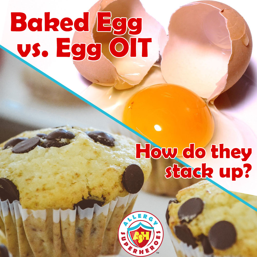Baked Egg versus Egg OIT | Cracked egg above Baked chocolate chip muffins | by Allergy Superheroes