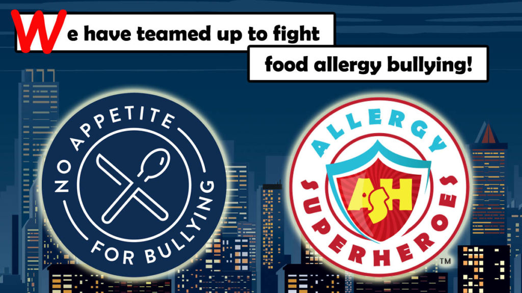 The Allergy Superheroes have teamed up to fight food allergy bullying.