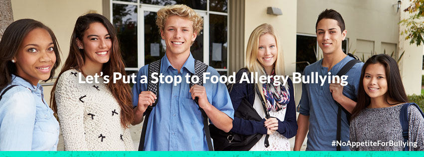 We have no appetite for food allergy bullying so help us put a stop to it!