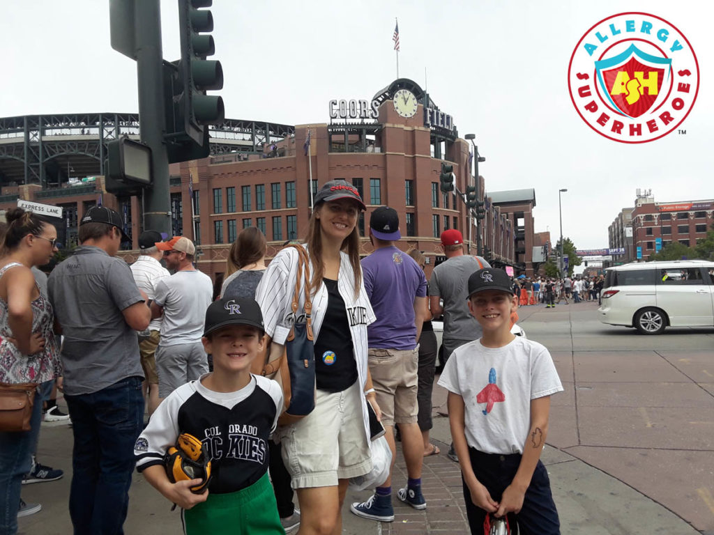 Coors Field home of the Colorado Rockies by food Allergy Superheroes.