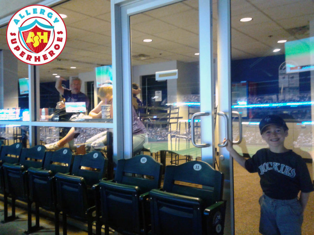Come inside the suite for the Colorado Rockies peanut friendly baseball game by food Allergy Superheroes.