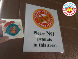 No peanuts in this area for the Colorado Rockies peanut friendly baseball game by food Allergy Superheroes.