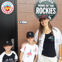 The suite entrance to the Colorado Rockies peanut friendly baseball game by food Allergy Superheroes.