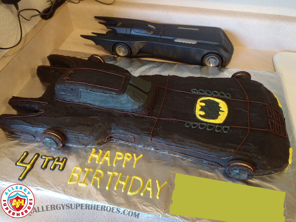 Allergy-Friendly Batmobile Birthday Cake | by Food Allergy Superheroes