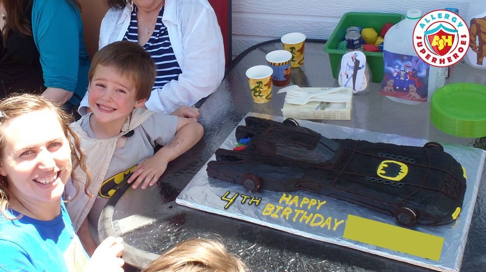 One happy birthday boy at his Batman Birthday Party! | by Allergy Superheroes