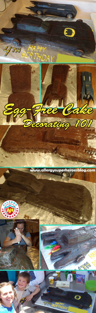 Allergy-Friendly Batmobile Birthday Cake | Cake Decorating Tutorial | by Allergy Superheroes
