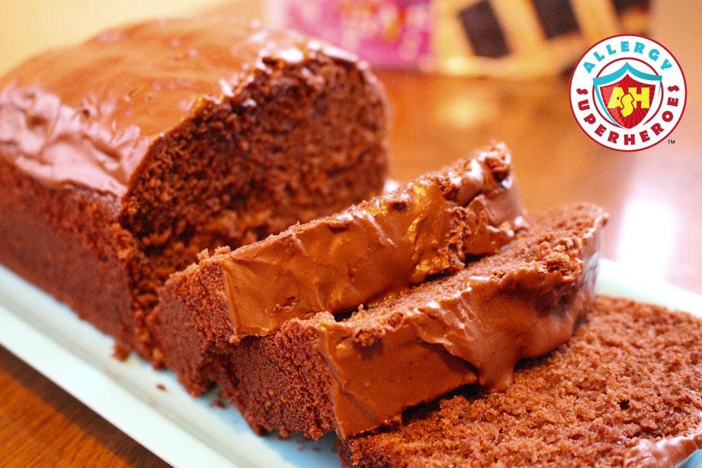 Decadent Chocolate Pound Cake | Cookbook Review | Allergen Free Desserts | Food Allergy Superheroes