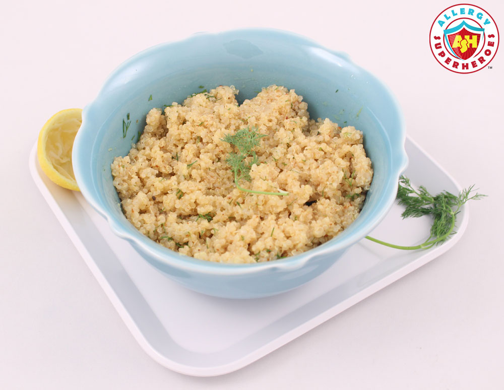 Lemon Dill Quinoa from Cookbook Everyone's Welcome | Food Allergy Superheroes
