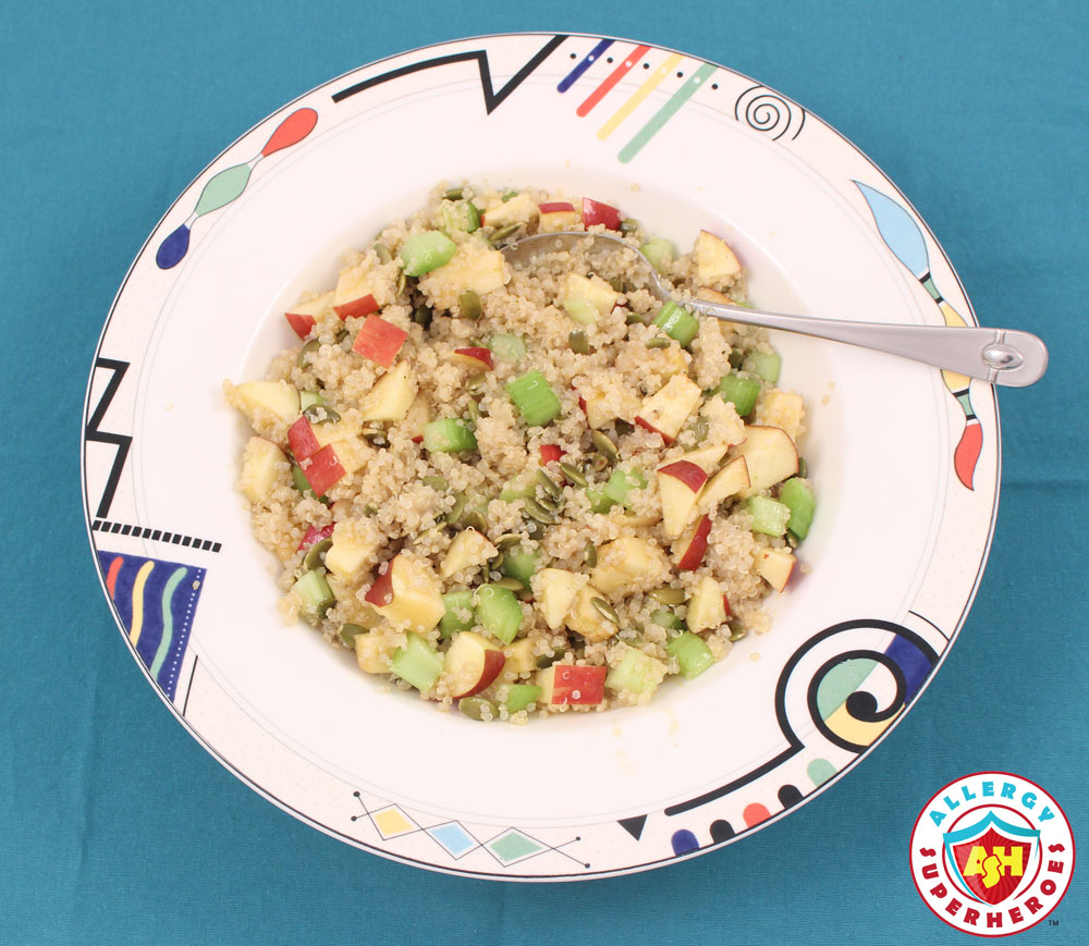 Maple Quinoa Salad from Cookbook Everyone's Welcome | Food Allergy Superheroes