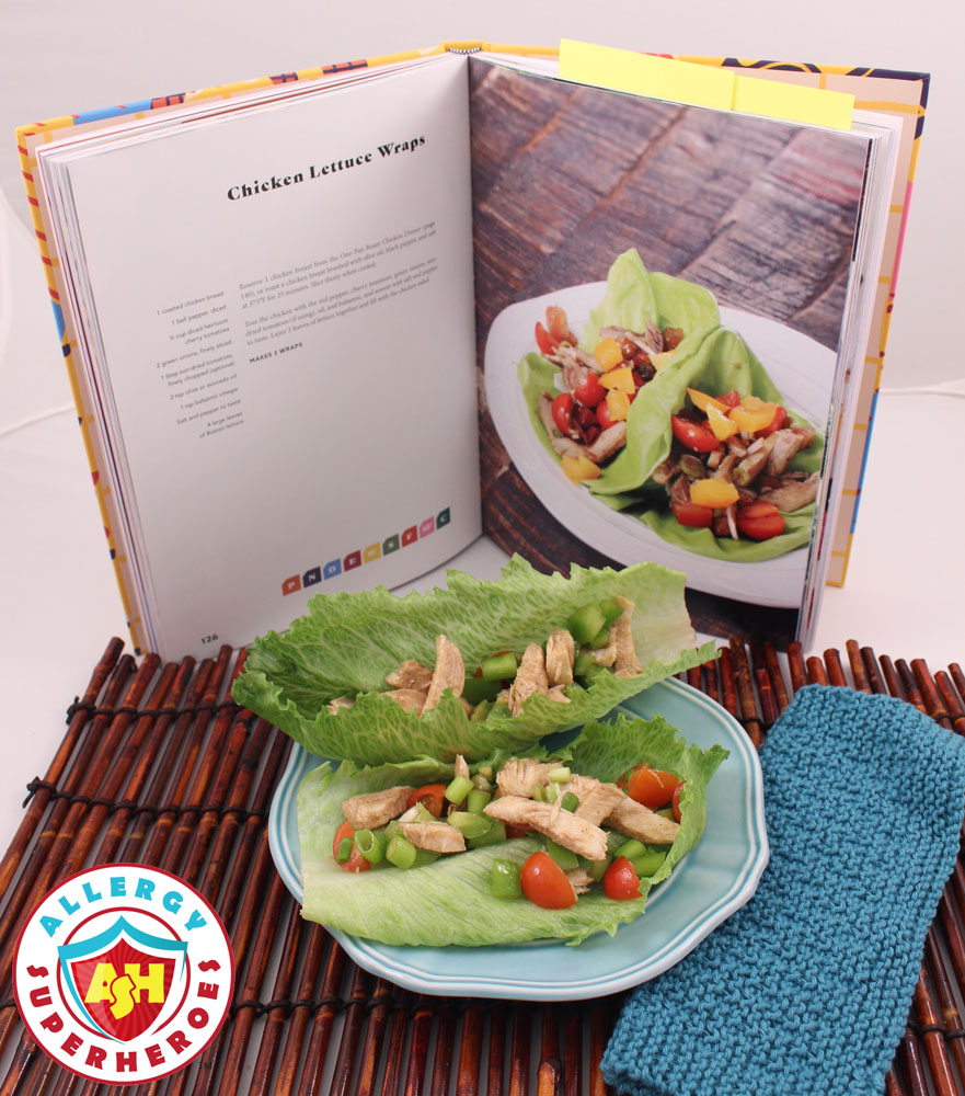 Chicken Lettuce Wraps from Cookbook Everyone's Welcome | Food Allergy Superheroes