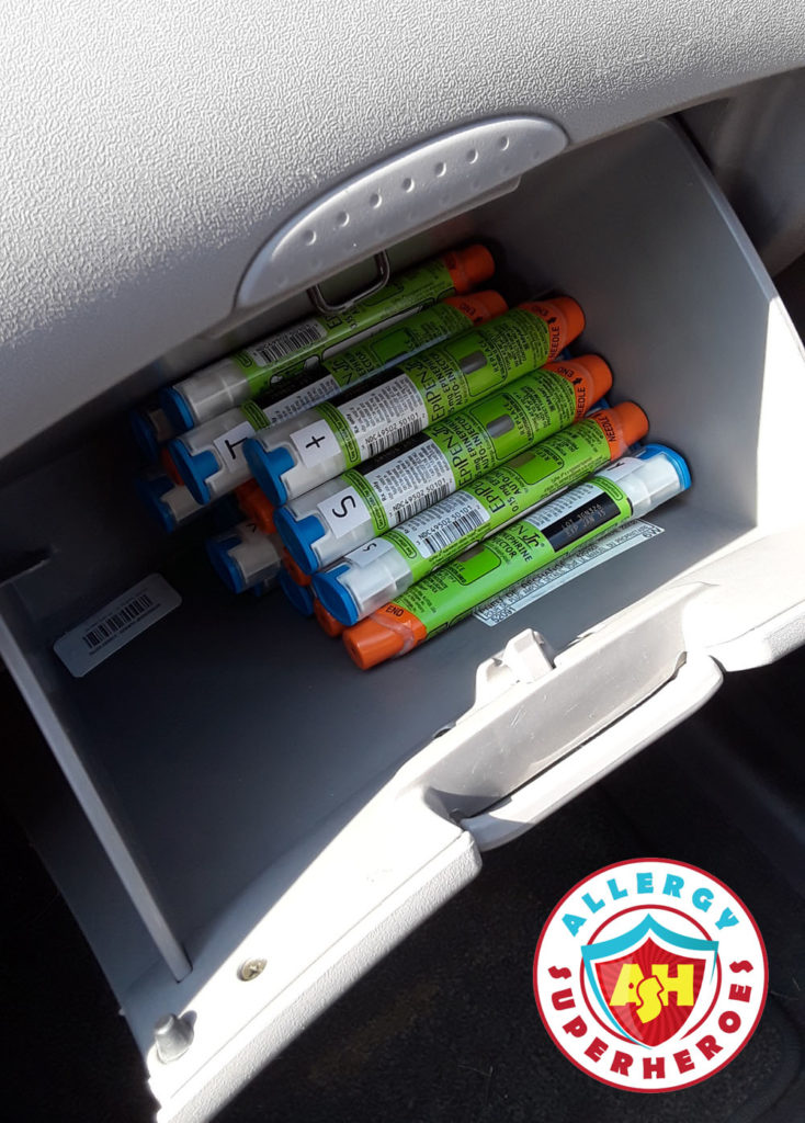 EpiPens being exposed to the heat in the glove box | Food Allergy Superheroes