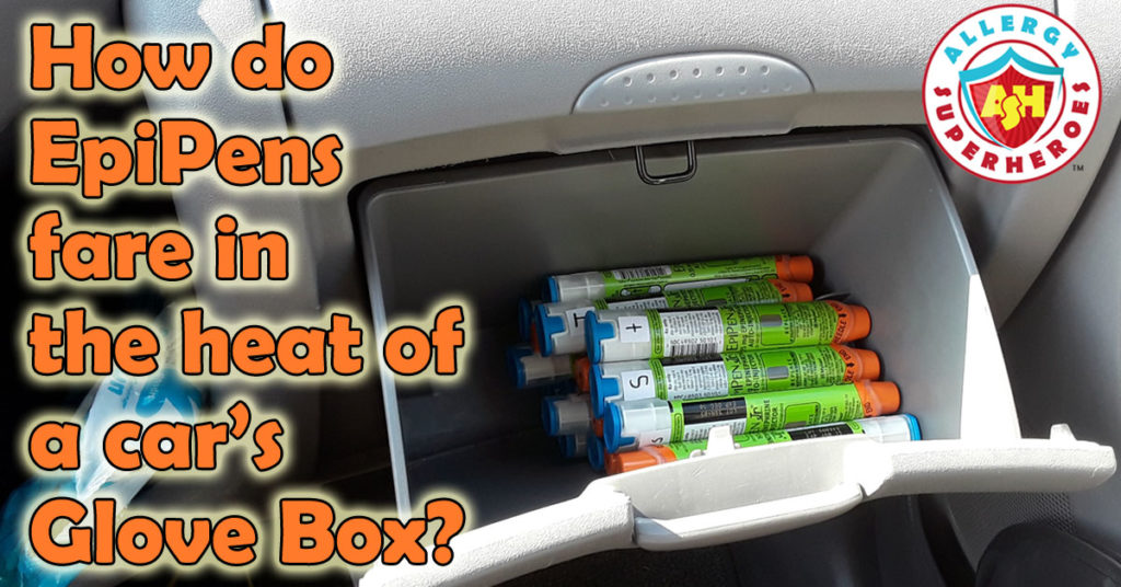 An experiment to see the effects of heat on an EpiPen left in a car's glove box | Food Allergy Superheroes