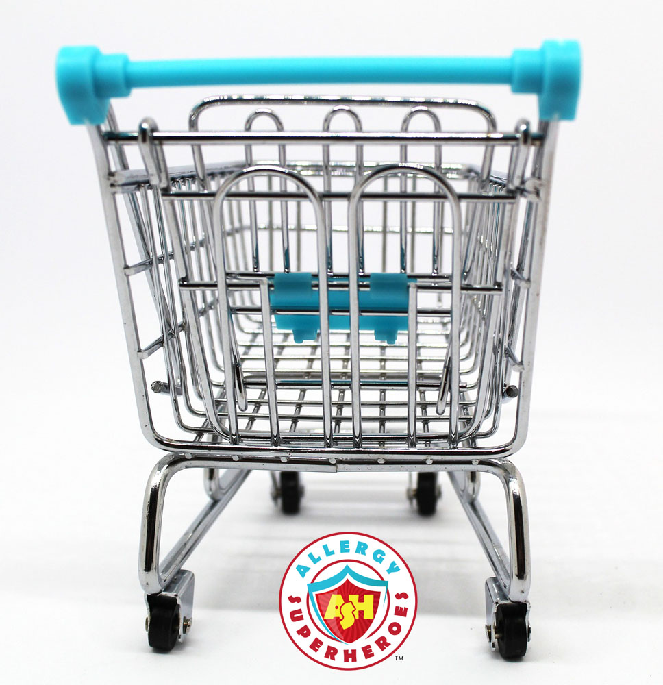 Shopping carts can contain traces of allergens. Use the free cart wipes! | Food Allergy Superheroes