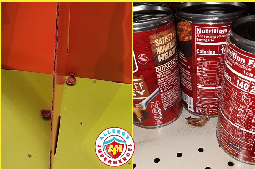 Tree Nut Shell litter in the grocery store | Food Allergy Superheroes