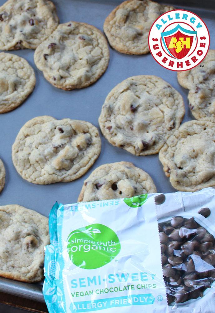 Simple Truth Organic vegan chocolate chips with Cookies | Food Allergy Superheroes