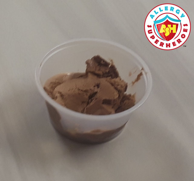 Peanut dose in chocolate ice cream | Food Allergy Superheroes