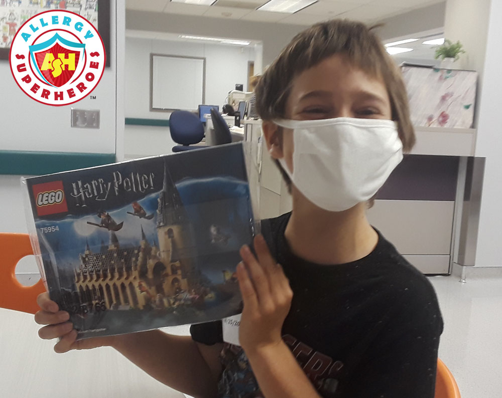 Kal's Lego prize for completing the study | Food Allergy Superheroes