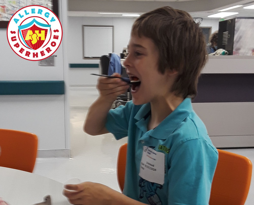 Second peanut challenge following reaction to dose | Food Allergy Superheroes